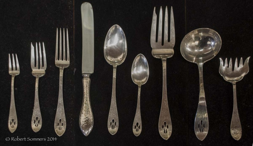 Shreve Antique Hammered Flatware Set