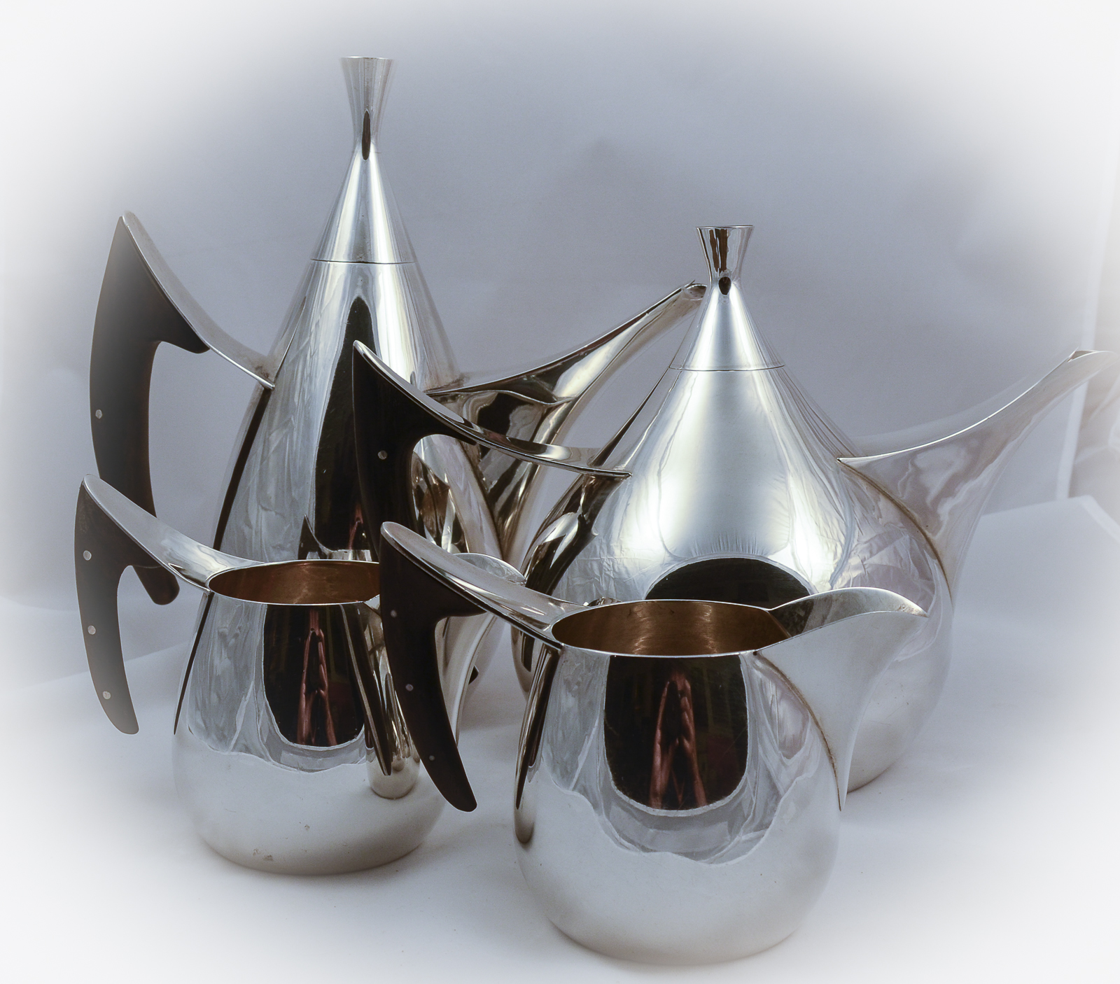 allan adler teardrop tea set
