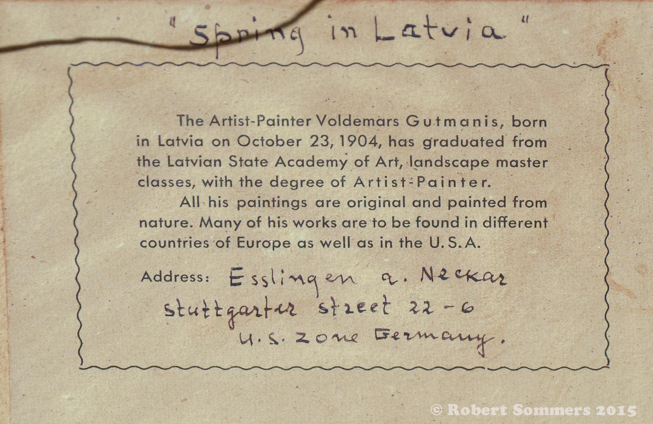 Gutmanis signature