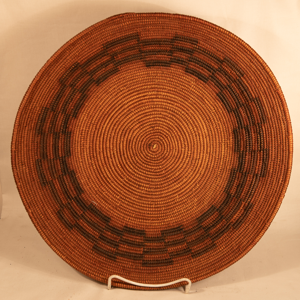 Large early mission Basket native american