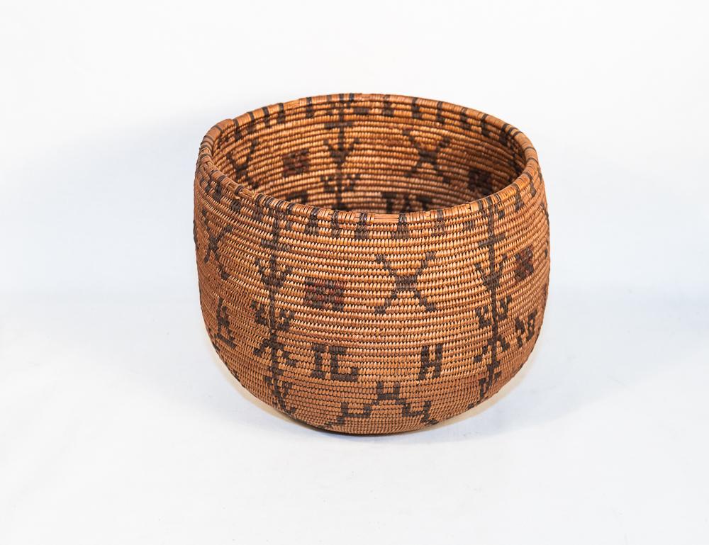 Apache basket bowl polychrome