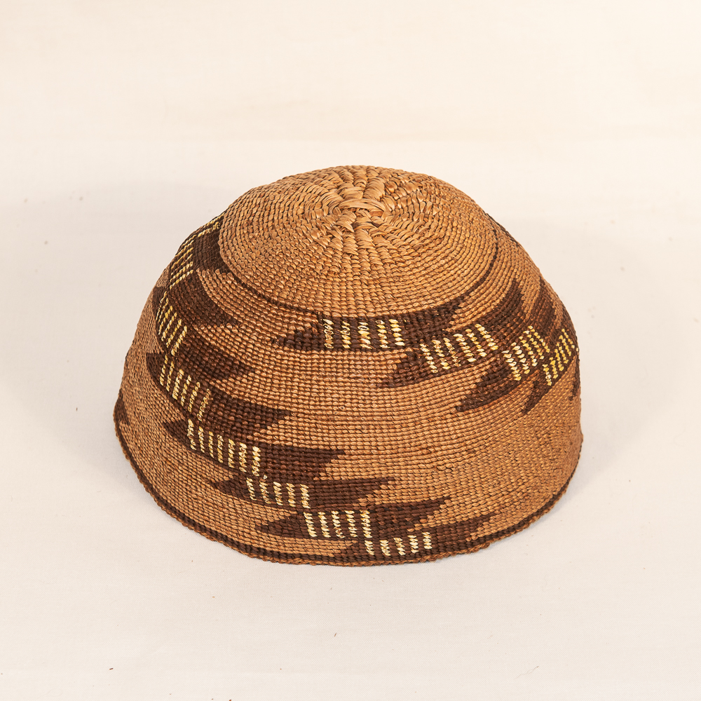 Modoc basket hat klamath native american