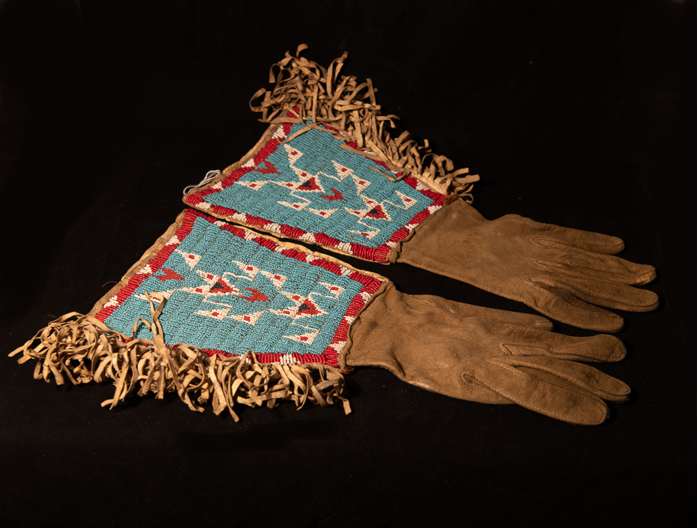 Northern Plains beaded gauntlets