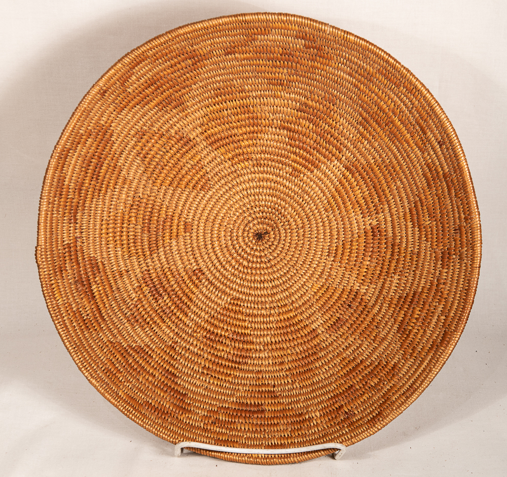 mission basket with ten pointed star native american