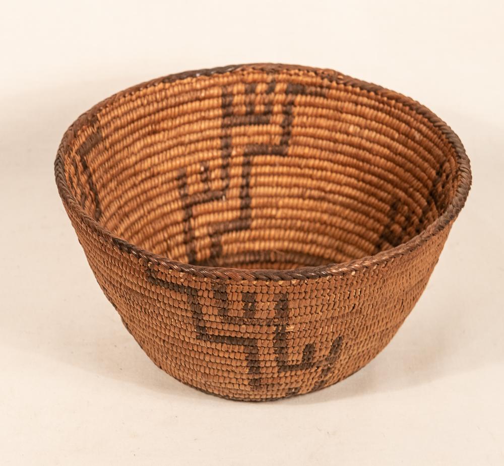 Pima basket with lightning and rain