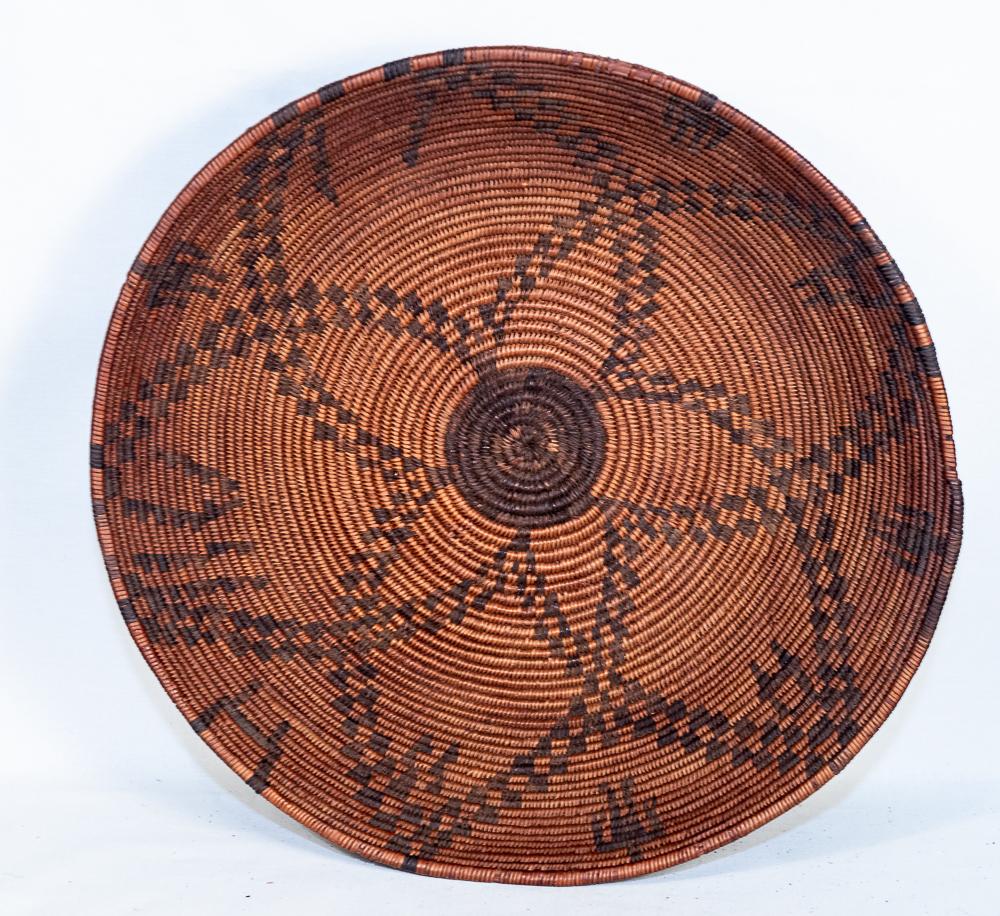 Yavapai Basket with human figures