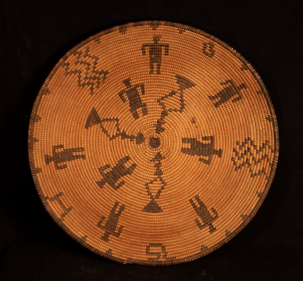 apache basket with human figures