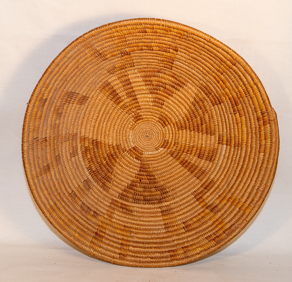 mission basket with whirling logs