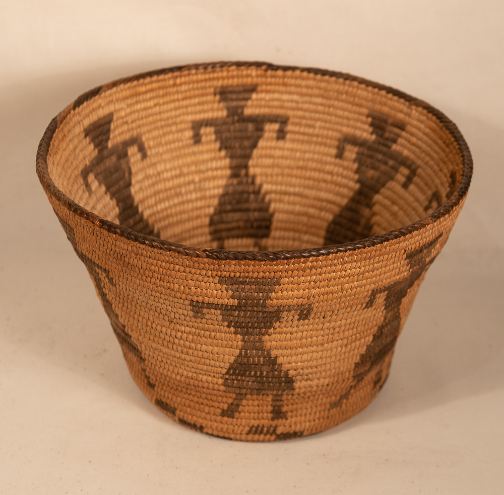 pima basket with female figures